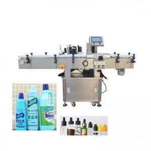 Étiqueteuse automatique de bouteilles de liquide désinfectant