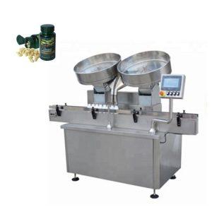 Comprimés automatiques de capsule de pilule d'acier inoxydable comptant la machine de remplissage