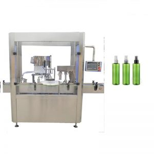 Écran tactile de couleur de machine de remplissage cosmétique fondé