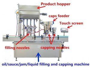 Machine de remplissage de miel de haute précision pour 500 ml