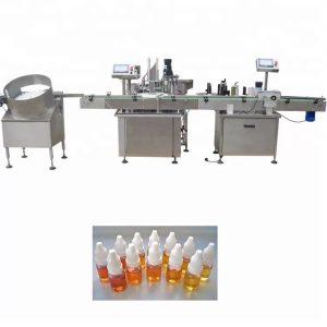 Machine de remplissage d'huile essentielle de pompe péristaltique