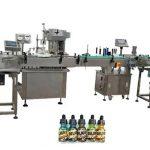 Machines de remplissage de bouteilles entièrement automatiques à deux têtes pour les bouteilles ambrées de 30 ml